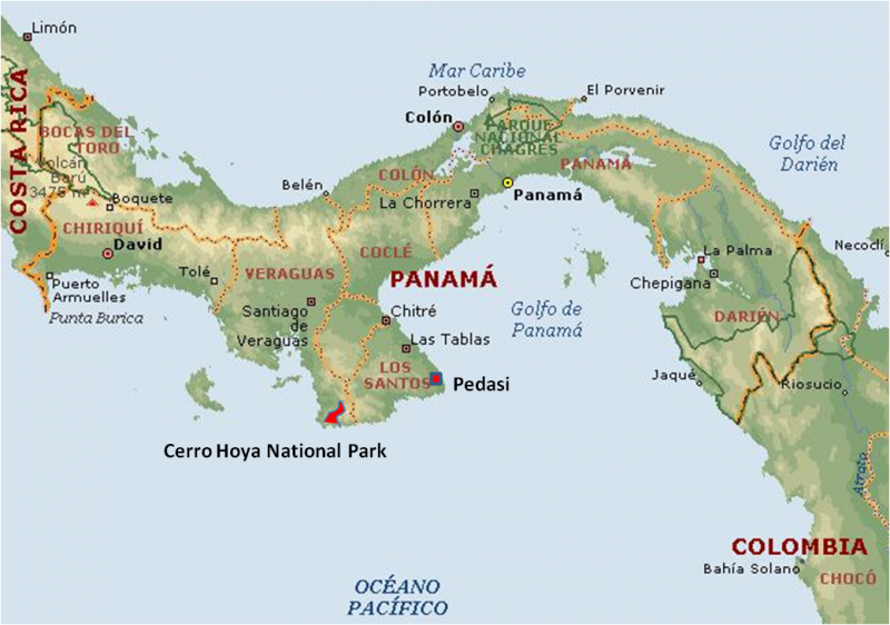 Map of the Republic of Panama